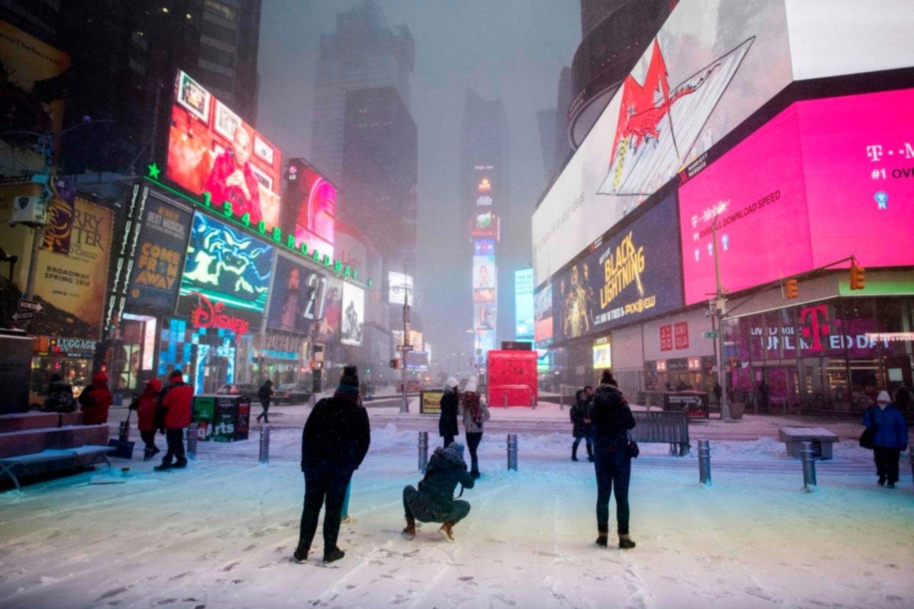 Frío y nieve azotan noreste de Estados Unidos
