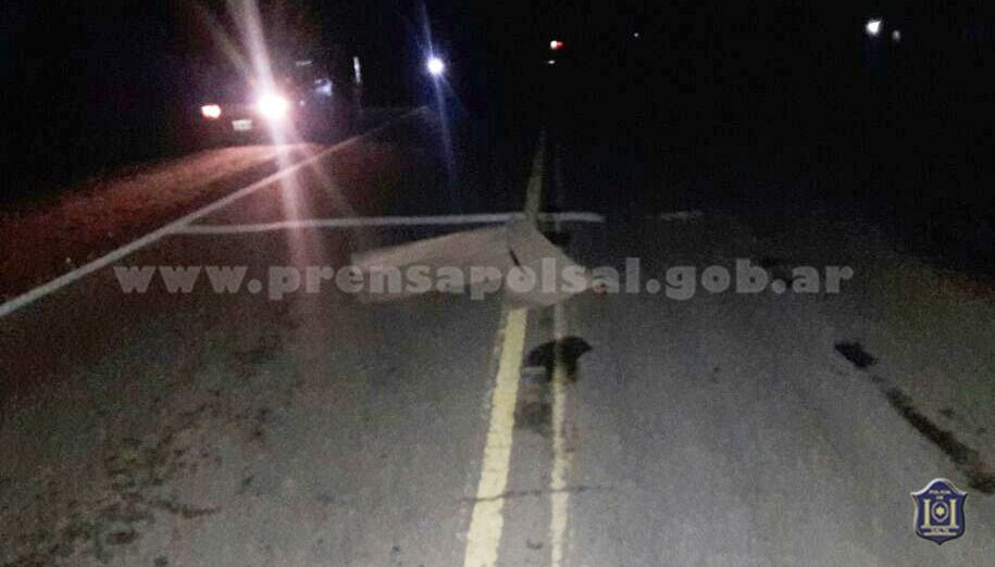 Pichanal: un conductor mató a una mujer y se dio a la fuga