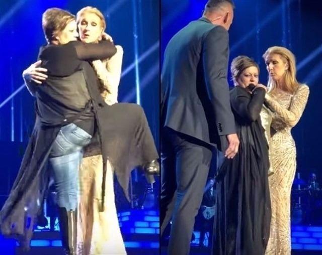 Celine Dion se enfrenta a una fan que se subió borracha al escenario de su show