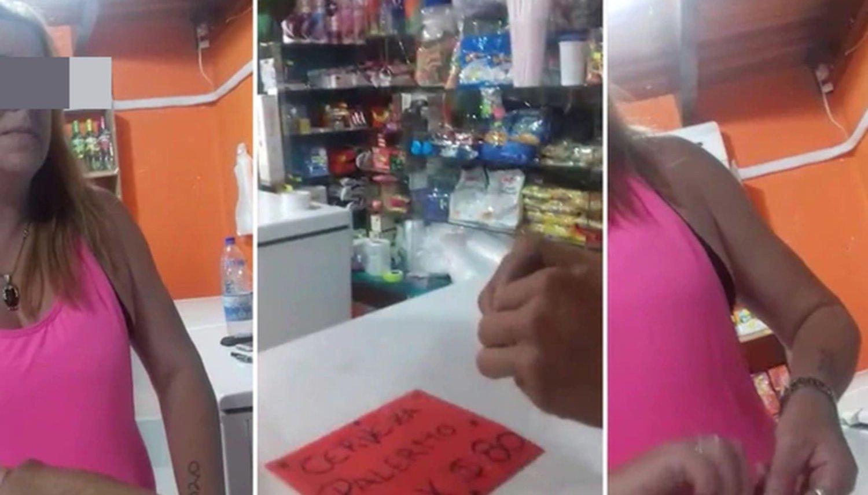 Graban a una kiosquera vendiéndole droga a chicos