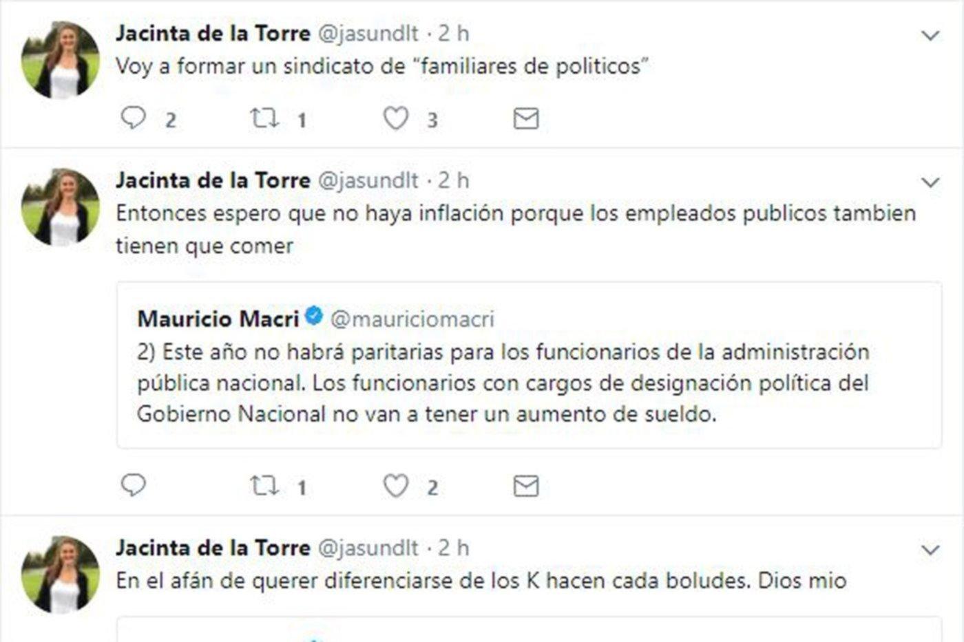 Hija de funcionario bonaerense criticó la decisión de Macri y Vidal