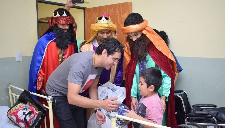 Reyes Magos visitaron el hospital