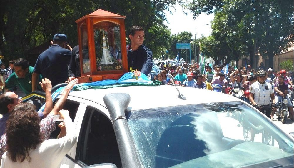 Una multitud recibió con fe a  la Virgen de Huachana