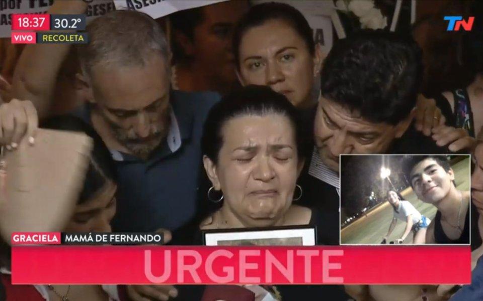 Marcha por el crimen de Fernando: desgarrador mensaje de su madre y reclamo de justicia