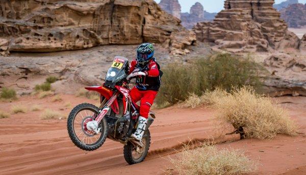 Kevin, en la cima del Dakar cuando restan dos etapas para el final