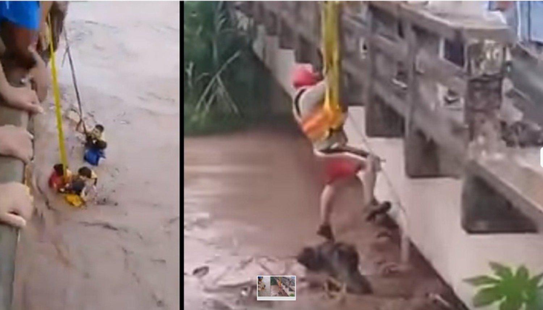 Impresionante rescate de 7 personas en el Río Colorado