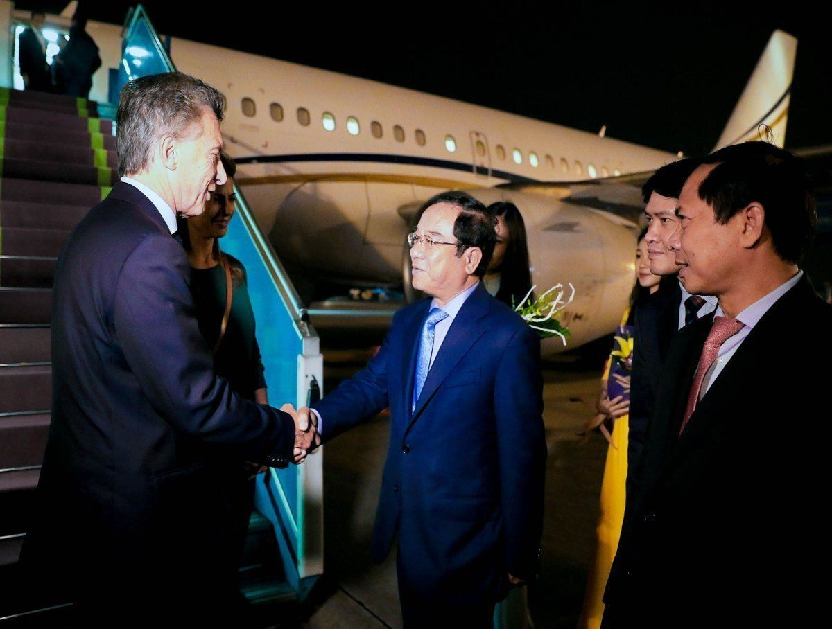 Macri llegó a Vietnam, último tramo de su gira asiática