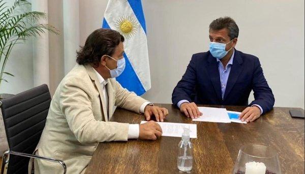 Sáenz pidió a Massa por Ganancias y la ley de biocombustibles