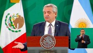 """Alberto Fernández desde México: """"Terminemos con la payasada"""""""