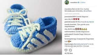 Maradona felicitó a Messi por el nacimiento de Ciro