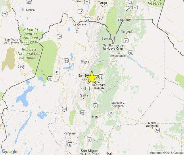 Salta y Jujuy temblaron con un sismo de 4,5 grados