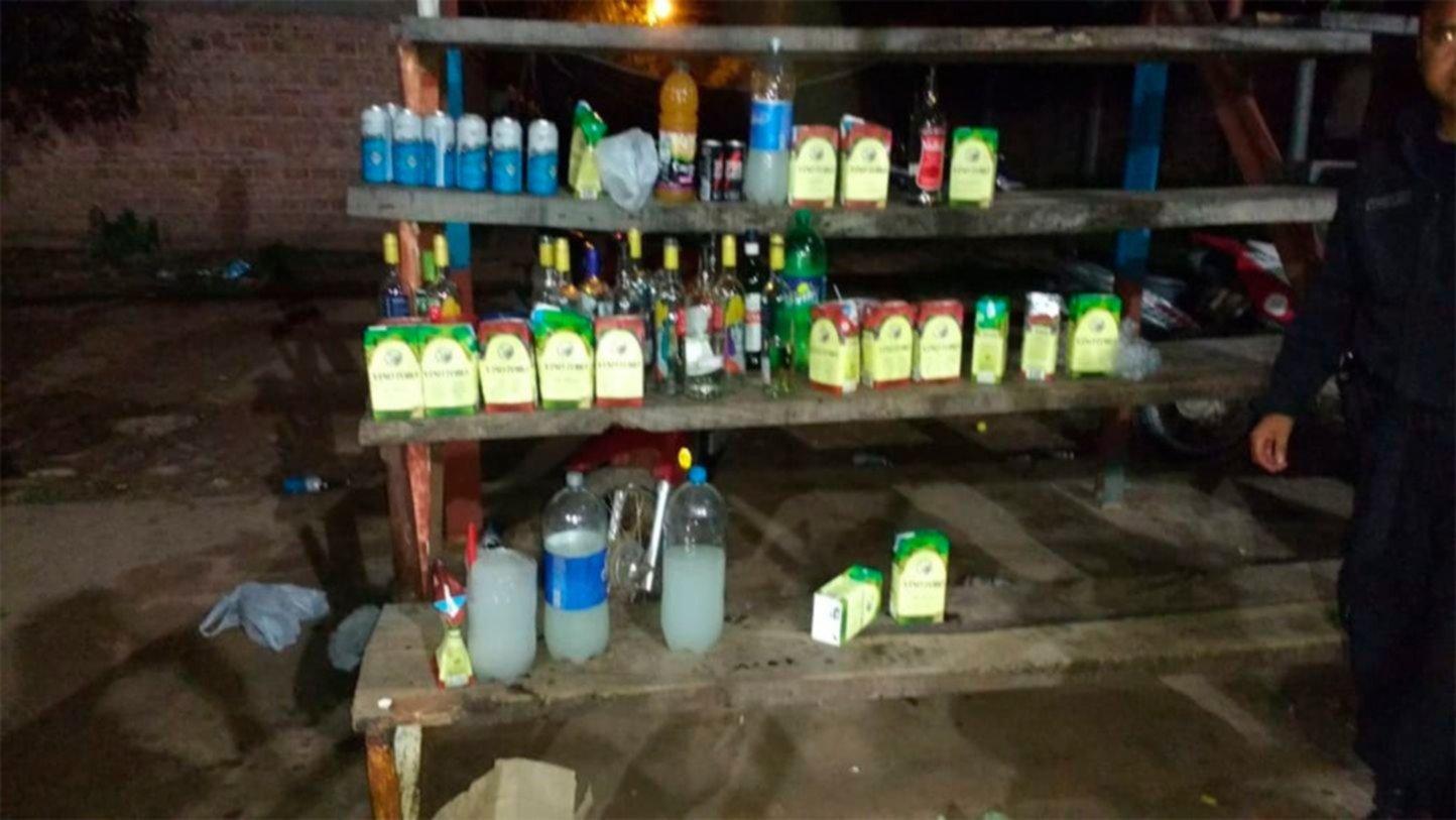 Fiesta clandestina con menores alcoholizados