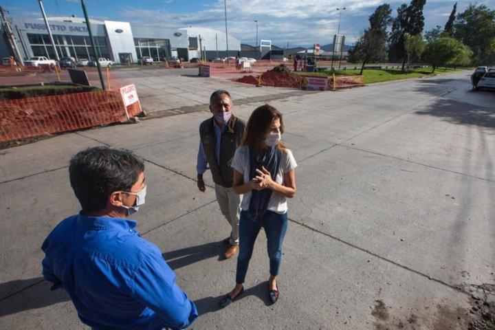 Construyen un nodo vial en Av. Tavella: la obra beneficiará a 13 barrios
