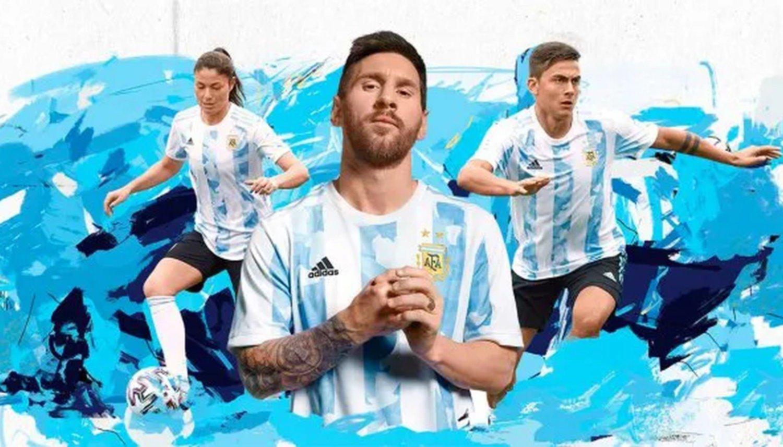 La Selección Argentina lanzó su nueva camiseta 2021 y tiene un costo de 7 y 10 mil pesos