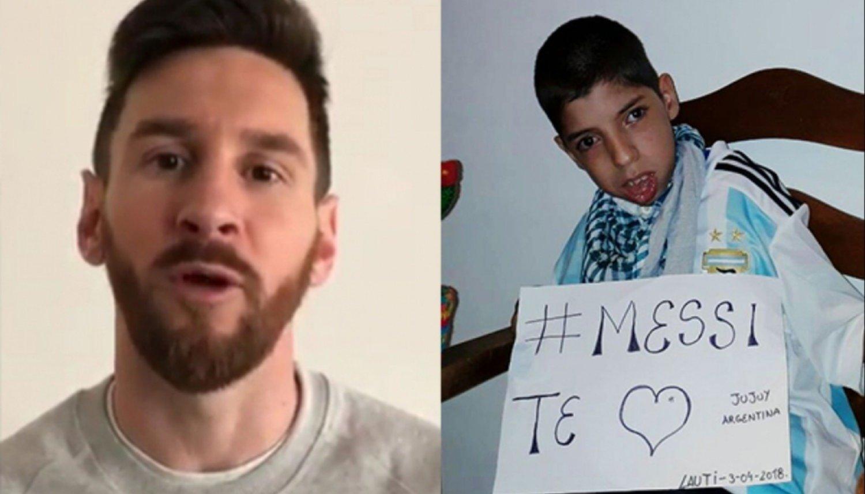 Messi le cumplió el sueño al niño jujeño que sufre parálisis cerebral