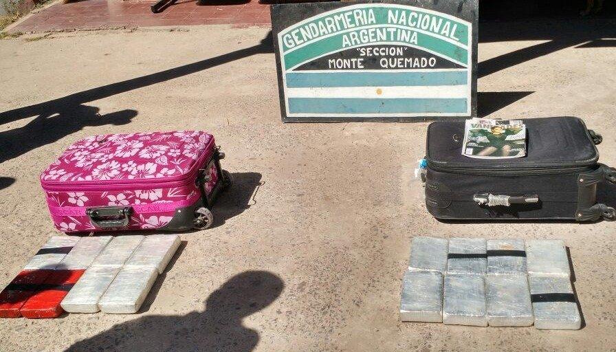 Monte Quemado: detuvieron a una pareja con 16 kilos de droga