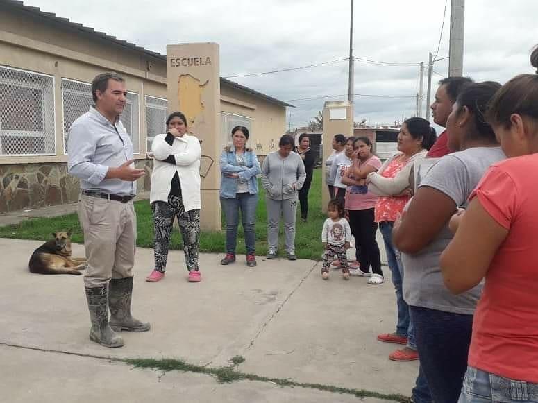 SAN LORENZO Asistieron a las familias damnificadas por las inundaciones, tras la última tormenta