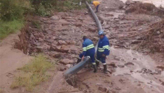 La Caldera: construyen defensas en los ríos y reparan la planta potabilizadora