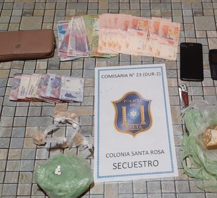 Detenidos con un $1 millón y medio y plantas de cannabis