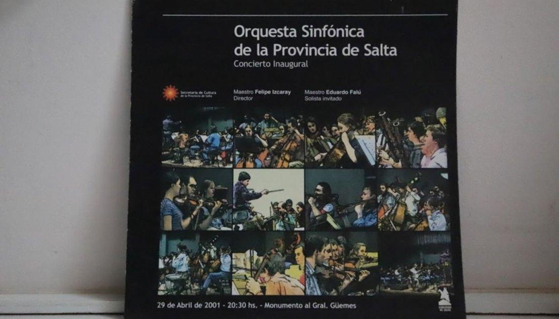 El programa de la primera presentación de la Orquesta Sinfónica de Salta.
