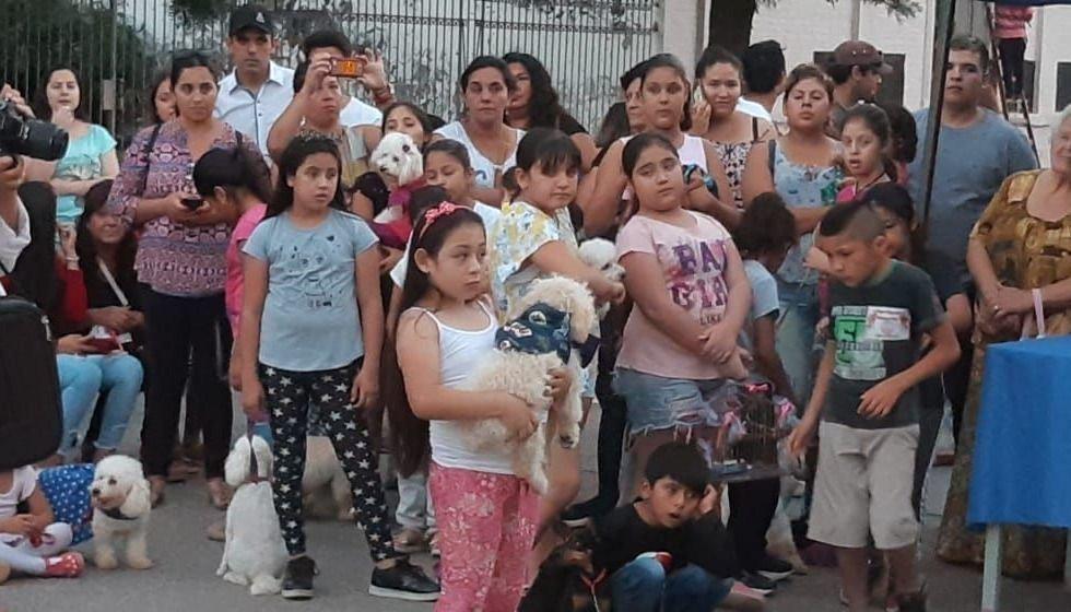 Gran convocatoria del desfile mascotero de la Policía Infantil