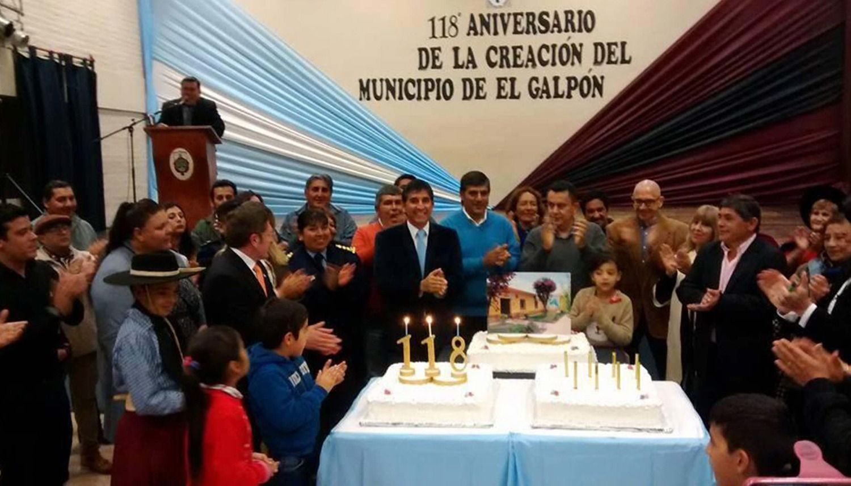 Festejan el 119 aniversario de El Galpón como comuna