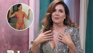 Andrea Frigerio bailó en bikini con su hija y sorprendió a todos