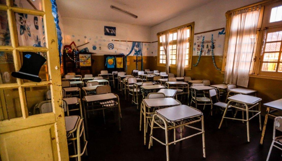 Sin clases en la escuela Roca. Foto Javier Corbalán