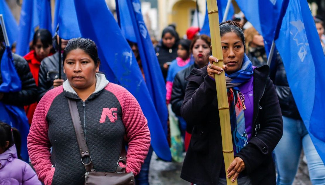 Integrantes del Movimiento Evita. Foto Javier Corbalán