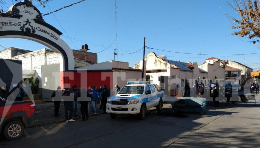 Trabajadores de Tránsito realizaron una protesta
