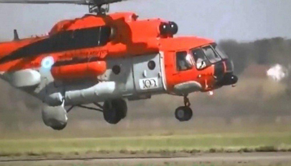 La comunicación desde el helicóptero varado en Catamarca: