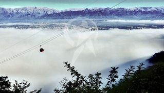 Otra vez, la ciudad cubierta por una densa neblina