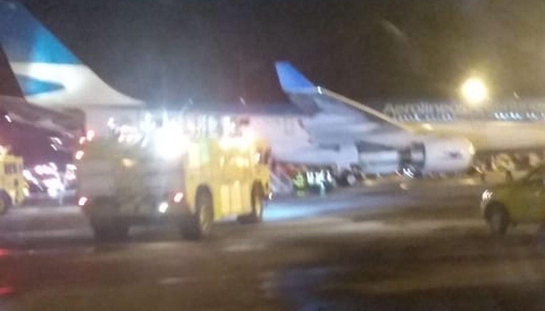 Pánico en vuelo de Aerolíneas Argentinas: aterrizó de emergencia en Bogotá