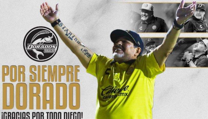 Por razones de salud, Maradona deja de ser el DT de Dorados
