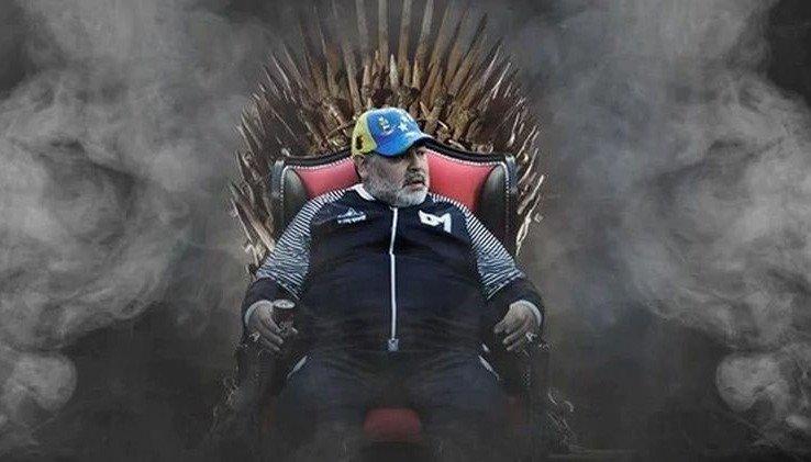 Maradona se queda en el lobo platense por 18 meses más