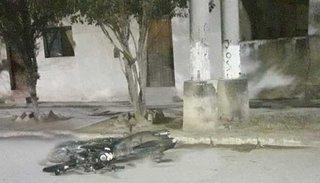 Motociclista se  mató contra un poste de cemento