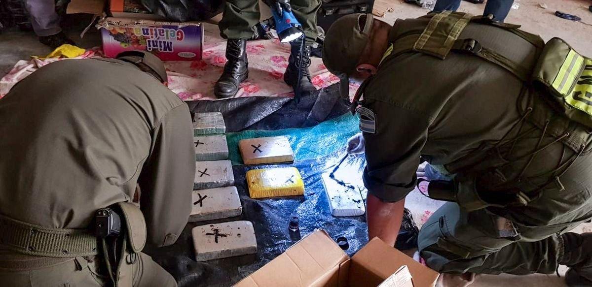 En seis meses fuerzas federales incautaron en la provincia de Salta 1.816 kilos de cocaína