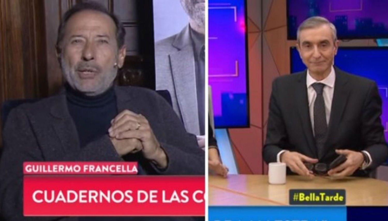 Guillermo Francella se enojó con Nelson Castro al aire