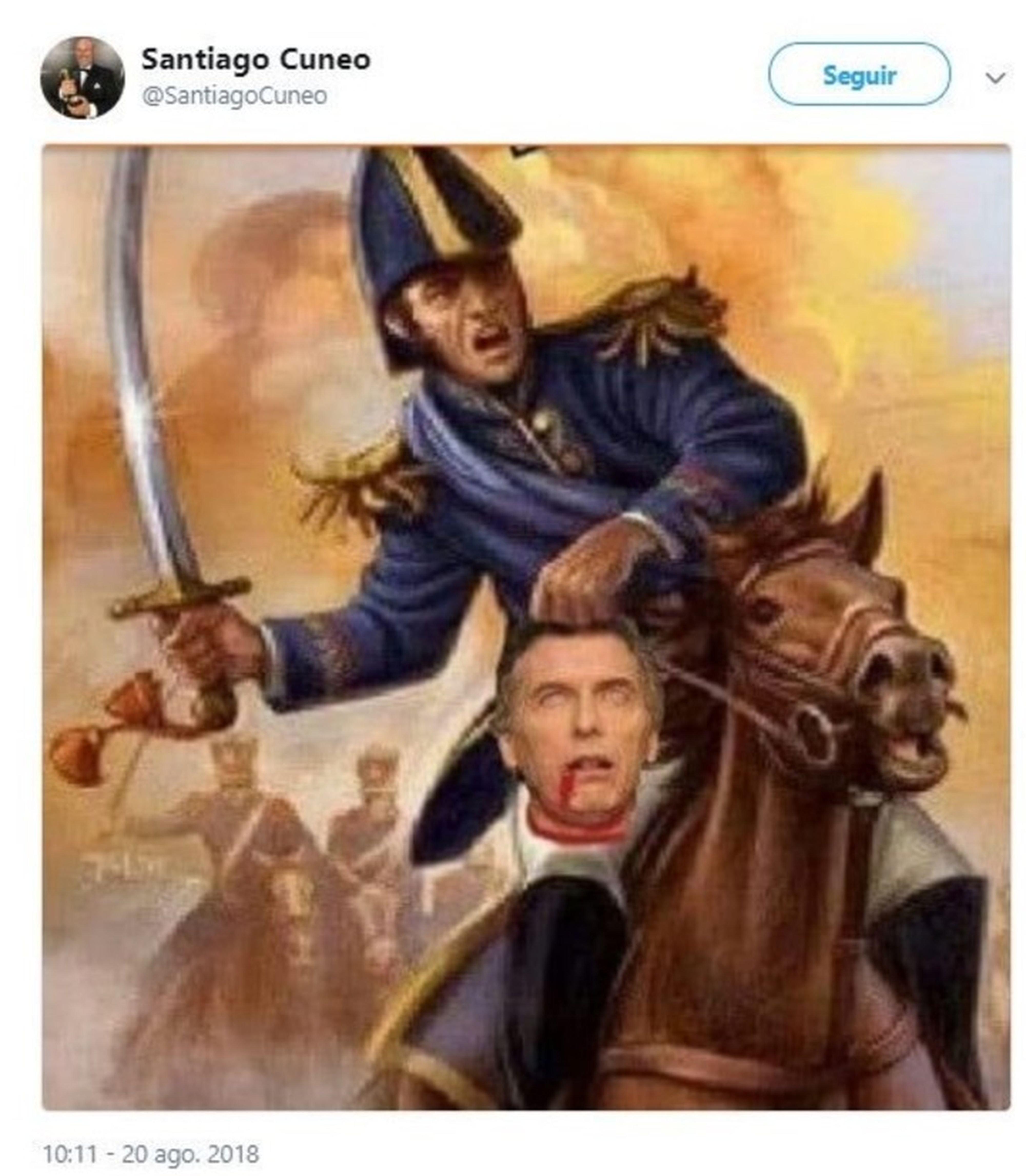 Denuncian a periodista por un tuit amenazante contra Macri