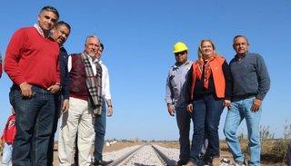 Romero destacó las obras del ferrocarril