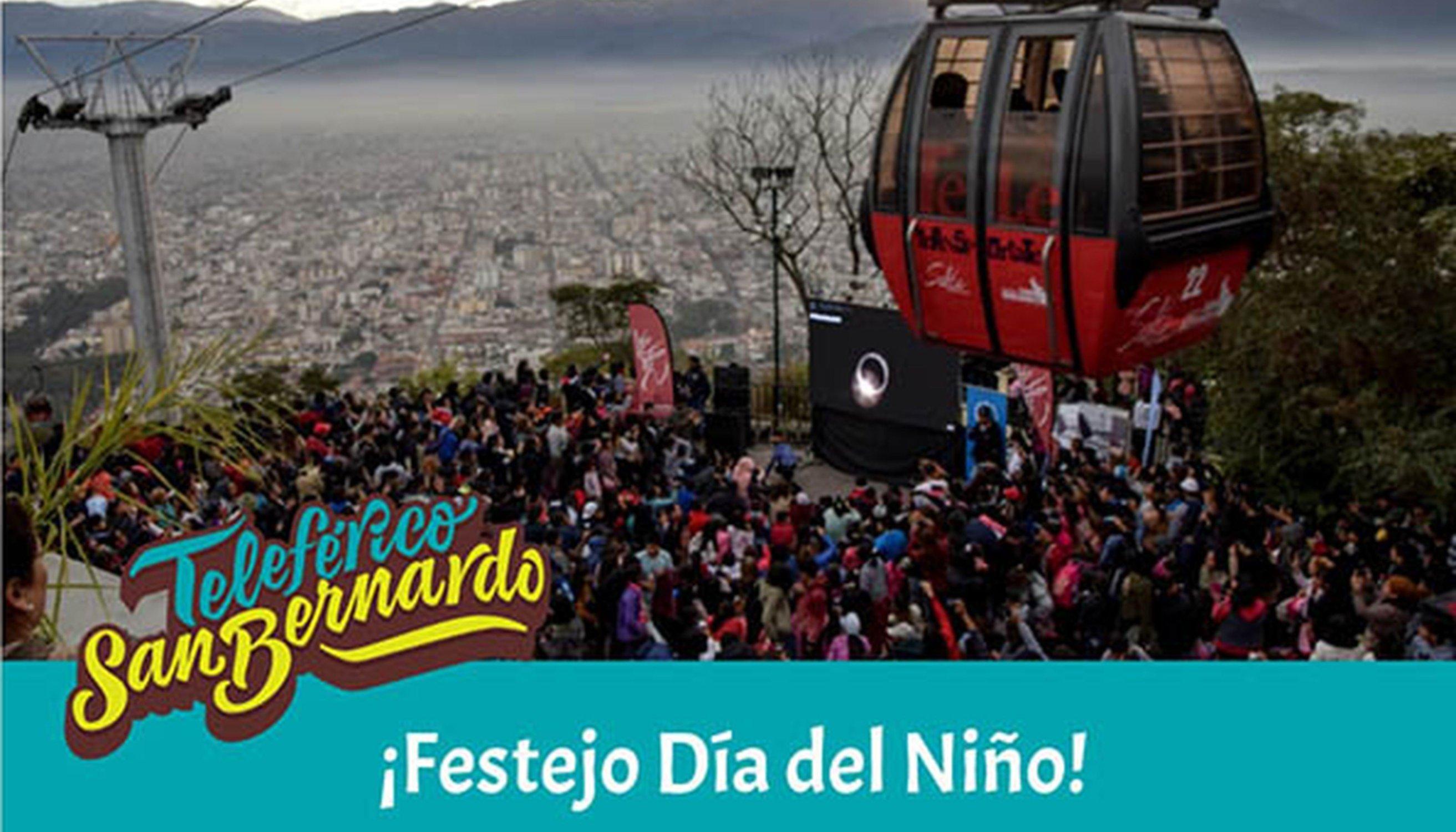 El Día del Niño se festejará en el Teleférico San Bernardo y en el Tren a las Nubes