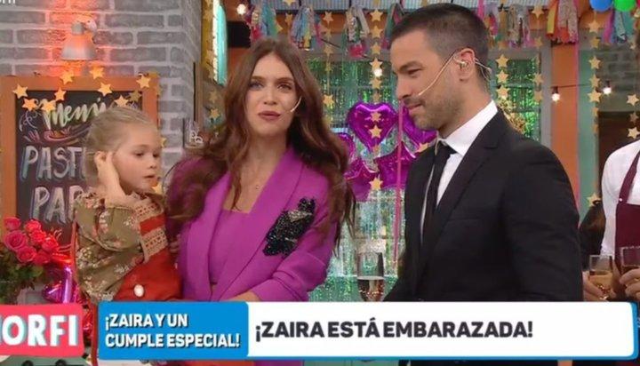 Zaira Nara confirmó su embarazo en Morfi