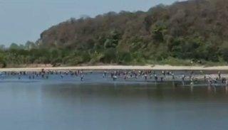 Video: Impresionante la cantidad de personas que cruza el río para ingresar a Salta