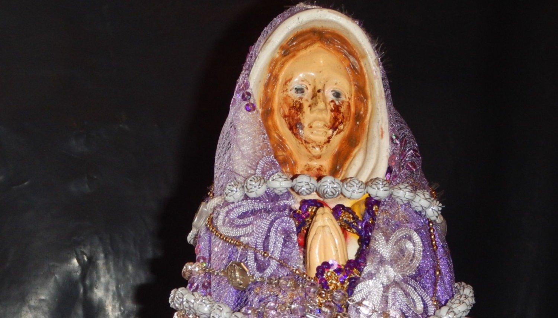 Construyen un  santuario para la  Virgen que llora