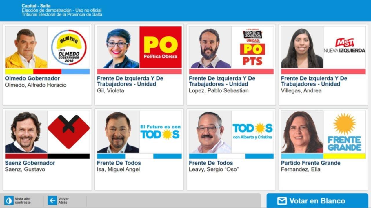 Resultado de imagen para Más de un millón de argentinos definen candidatos en Salta