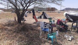 Familias en situación de calle ya  empezaron a construir ranchos