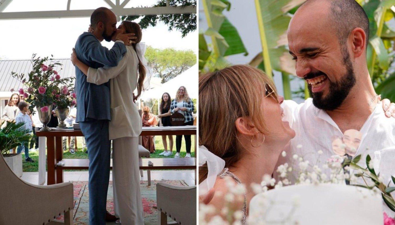 Se casó Abel Pintos con Mora Calabrese: madre de su hijo Agustín y su pareja hace 7 años