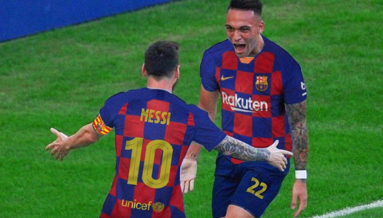Lionel Messi y Lautaro Martínez jugarían juntos en el Barcelona