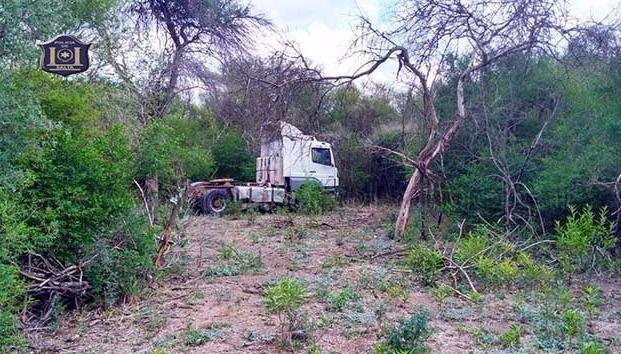 Hallan un camión  robado por piratas del asfalto