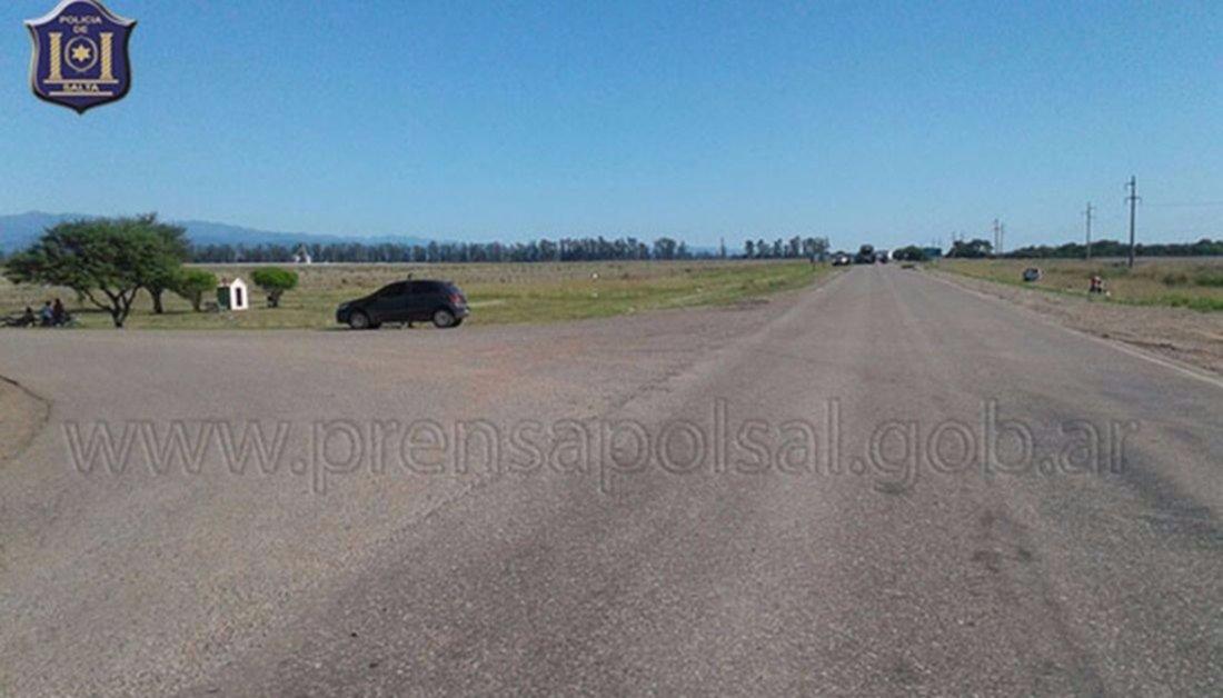 Motociclista, víctima fatal en  Las Lajitas